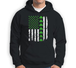 Vintage America-n US-A Flag, Shamrock Green-Clover Boy Girl Sweatshirt & Hoodie