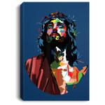 Vintage Got King Jesus Christ Sweet Face Image Portrait Canvas
