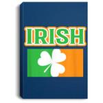 Vintage Irish Flag St Patricks Day for Men Women Portrait Canvas