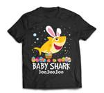 Baby Shark Doo Doo With Bunny Ear Egg Hunting Easter T-Shirt