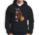 Bigfoot Carring Eggs Easter Bigfoot Easter Costume Sweatshirt & Hoodie