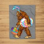 Bigfoot Hunting Easter Eggs Funny Fleece Blanket