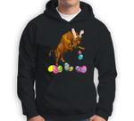 Bison And Bunny Rabbit Hat Easter Eggs Happy Day Sweatshirt & Hoodie