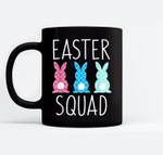 Easter Squad Family Matching Egg Hunt Hunting Gift Black Mugs