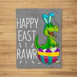 Easter T Rex Dinosaur Bunny Egg Costume Kids Happy Eastrawr Fleece Blanket