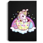 Easter Unicorn for Girls Kids Bunny Easter Eggs Gift Portrait Canvas