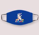 Egg Boss Easter Dabbing Bunny Kids Toddler Boys Girl Cloth Face Mask