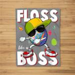 Egg Floss Like A Boss Happy Easter Day Boys Kids Fleece Blanket