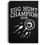 Egg Hunt Champion 2019 Funny Easter Pregnancy Reveal Men Dad Portrait Canvas