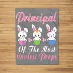 Love My Principal Peeps Bunnies Happy Easter Vintage Fleece Blanket