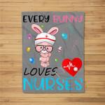 LPN RN CNA Nurse Easter Gift Graduation Nursing MSN Fleece Blanket