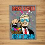Make Easter Day Great Again Trump Men Women Fleece Blanket