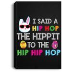 Cute funny mom and dad family matching easter outfit rabbit Portrait Canvas