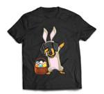 Dabbing Easter Bunny Dachshund Doxie Girls & Design T-Shirt
