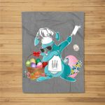 Dabbing Rabbit with chef'knife Happy Easter Day Fleece Blanket
