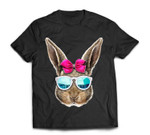 Easter Bunny Costume Face Easter Day Rabbit Ear Gift Girls T-Shirt