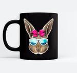 Easter Bunny Costume Face Easter Day Rabbit Ear Gift Girls Black Mugs