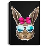 Easter Bunny Costume Face Easter Day Rabbit Ear Gift Girls Portrait Canvas