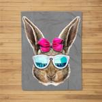 Easter Bunny Costume Face Easter Day Rabbit Ear Gift Girls Fleece Blanket