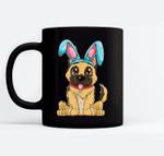 Easter Bunny German Shepherd Dog Boys Girl Kids Men Black Mugs