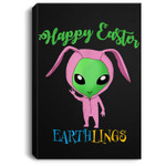 Easter Alien bunny costume for boys Portrait Canvas