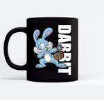 Easter Basket Stuffers Kids Dabbing Bunny Dabbit Gift Black Mugs