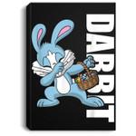 Easter Basket Stuffers Kids Dabbing Bunny Dabbit Gift Portrait Canvas