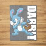Easter Basket Stuffers Kids Dabbing Bunny Dabbit Gift Fleece Blanket