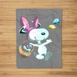 Easter Beagle egg Fleece Blanket