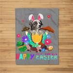 Easter Bunny Aussie Dog Boys Girl Kids Women Fleece Blanket