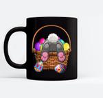 Easter Bunny Basket Eggs Women Men Kids Gift Black Mugs