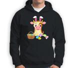 Happy Cow Easter Bunny Egg Gift for Kids Sweatshirt & Hoodie