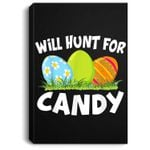 Happy Easter - Kids Funny Egg Hunt For Candy Portrait Canvas