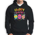 Happy Easter Day Colorful Egg Hunting Cute Sweatshirt & Hoodie