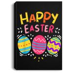 Happy Easter Day Colorful Egg Hunting Cute Portrait Canvas