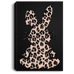 Rabbit Bunny Leopard Pattern gift Funny Easter Bunny costume Portrait Canvas