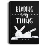 Reading is my Thing Teacher Easter Bunny Portrait Canvas