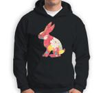 Retro Easter Bunny - Vintage Floral Pink Sweatshirt & Hoodie