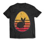 Retro Vintage Bunny Egg Happy Easter Gift Men Women T-Shirt