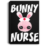 Cute Bunny Nurse Bunny Easter Day Nurse Gift Women Portrait Canvas