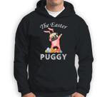 Cute Dabbing Pug Easter Puggy Bunny Dark Sweatshirt & Hoodie