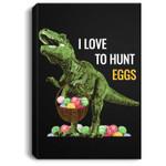Easter Dinosaur T Rex Kids Boys Girls EGG Hunts Portrait Canvas