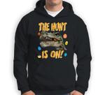 Easter Dinosaur T-Rex Boys Kids The Egg Hunt Is On Sweatshirt & Hoodie
