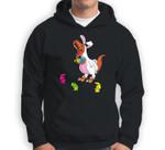 Easter Dinosaur T-Rex Eating Peeps for Kids Youth Sweatshirt & Hoodie