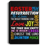 He Is Risen Christian Happy Easter Funny Gift Portrait Canvas