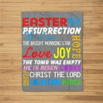 He Is Risen Christian Happy Easter Funny Gift Fleece Blanket