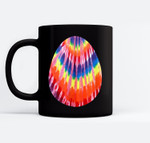 Hippie Easter Tie Dye Pattern Easter Egg Black Mugs