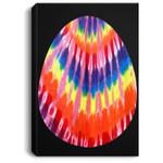 Hippie Easter Tie Dye Pattern Easter Egg Portrait Canvas