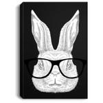 Hopster Bunny Rabbit Nerd Glasses Cute Easter Rabbit Gift Portrait Canvas