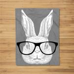 Hopster Bunny Rabbit Nerd Glasses Cute Easter Rabbit Gift Fleece Blanket